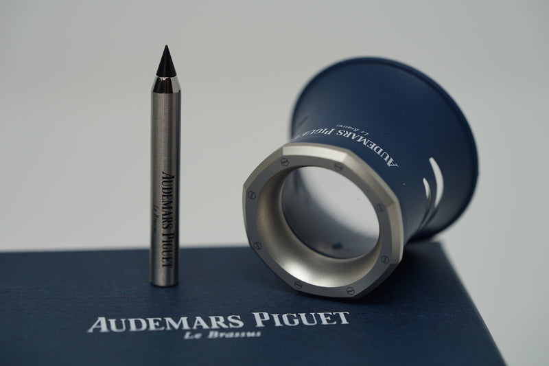 AP Royal Oak Steel Loupe Blue with Box and Stylus