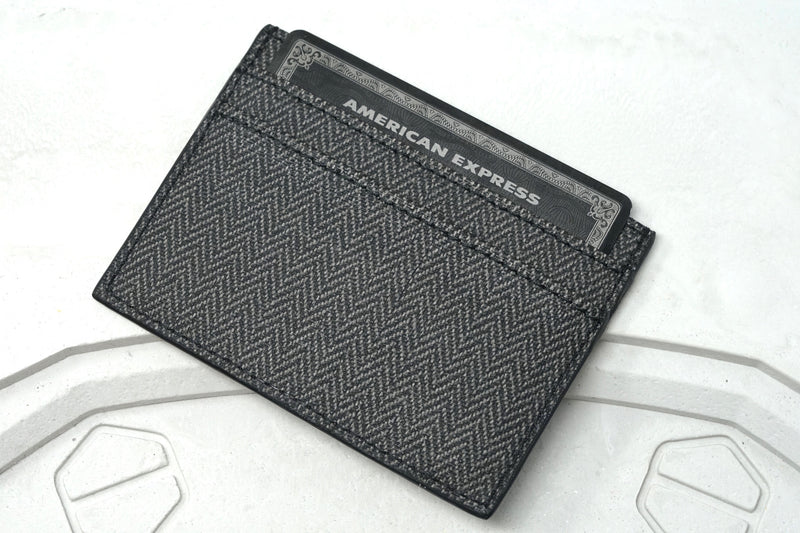 New Audemars Piguet Black Wallet with Grey Pattern