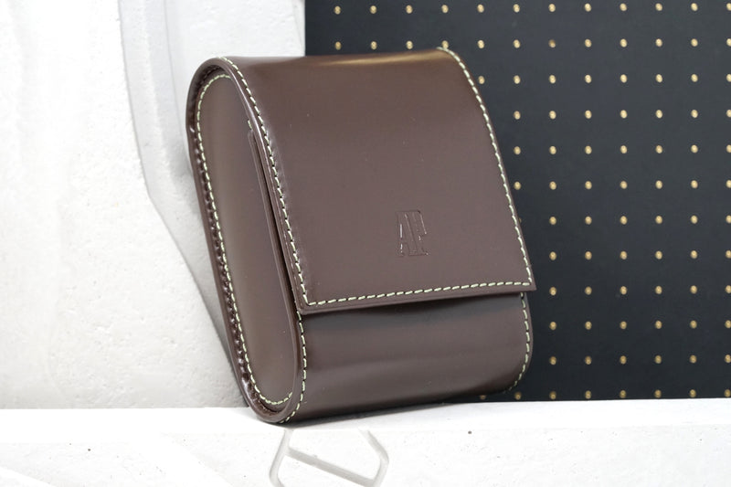 Audemars Piguet Leather Travel Case Brown Jewelry Watch