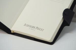 New Audemars Piguet Notebook Black Leather with Green Accents