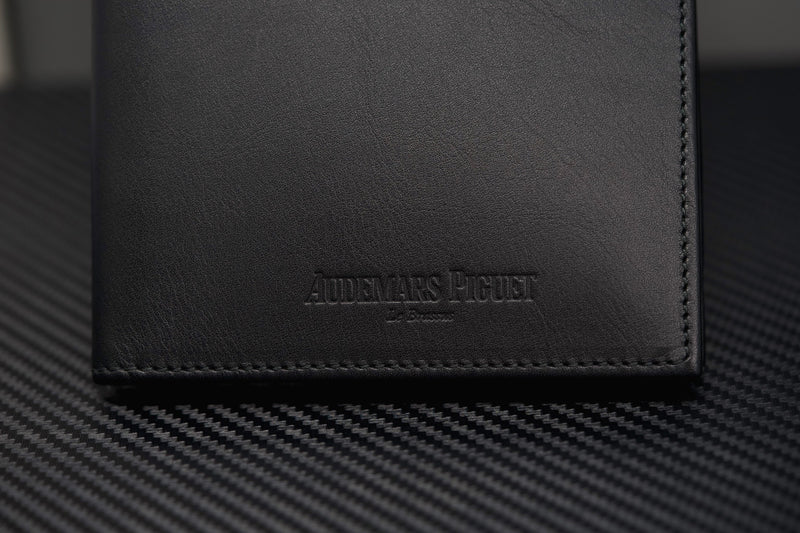 Audemars Piguet Royal Oak Wallet Luxury Black Leather Made in Italy
