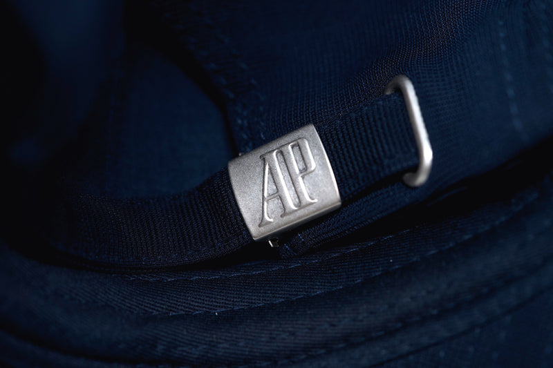 AP Royal Oak Hat Adjustable Cap Blue Cotton Fabric with AP Logo Buckle
