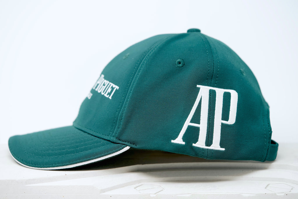 Audemars Piguet Green and White Cotton Hat
