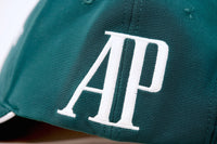 Luxury Cotton Golf Hat Green and White AP by Audemars Piguet