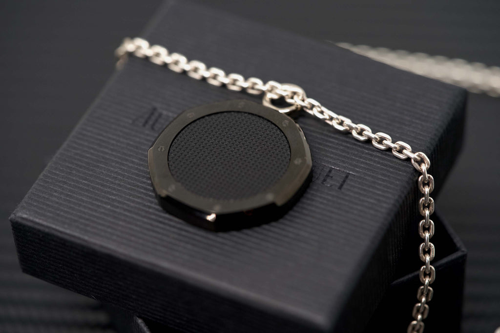 Audemars Piguet Royal Oak Black Necklace Chain Medallion