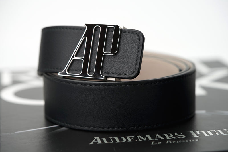 Authentic Audemars Piguet Belt Black Leather For Sale