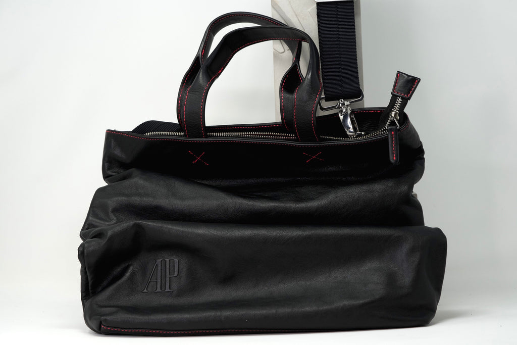 Naoto Fukasawa Black Leather Bag With Audemars Piguet