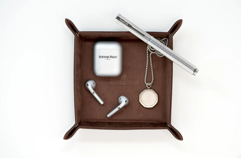 Audemars Piguet Royal Oak Pen in Brown Leather Catchall Tray Available at Time Traders Online