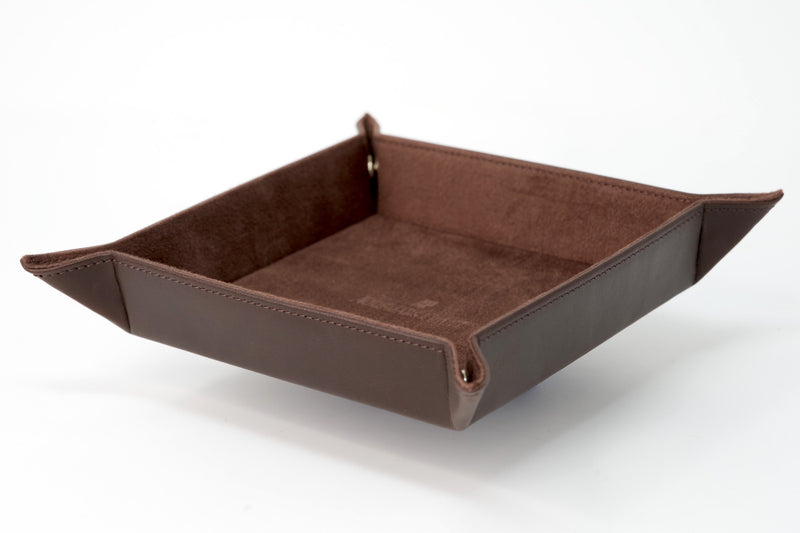 Luxury Catchall Tray Brown Italian Premium Leather by Audemars Piguet