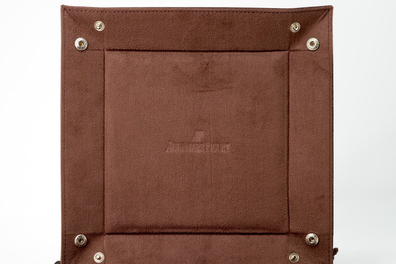 Luxury Italian Leather Catchall Tray by Audemars Piguet Brown Suede Lining