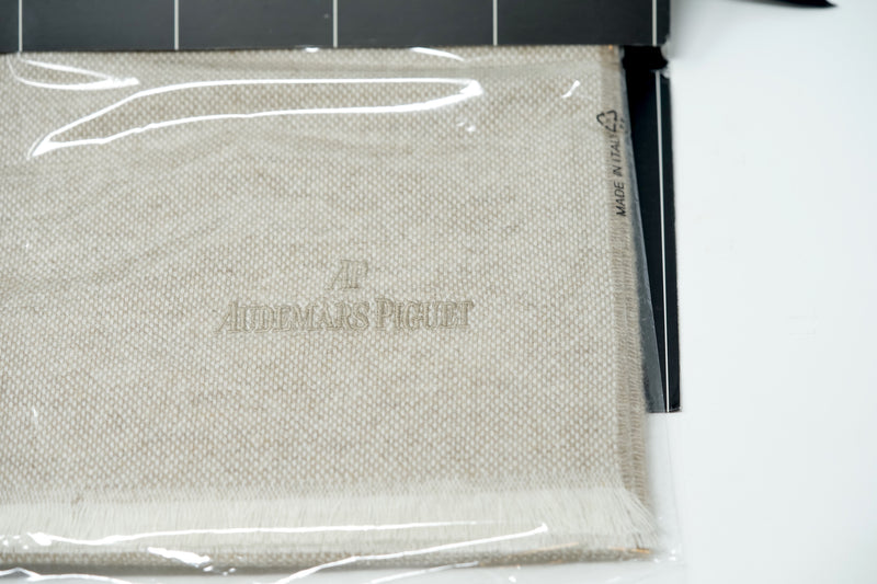 Zegna Mens Luxury Pure Cashmere Scarf Off-white Color Made in Italy for Audemars Piguet