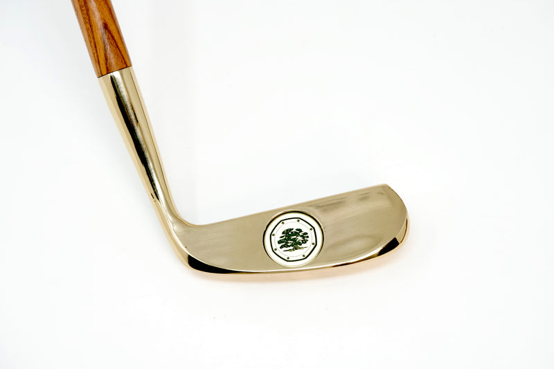 Luxury Collectible Golden Golf Club For Sale Made By Audemars Piguet Royal Oak Logo Part of Display Set