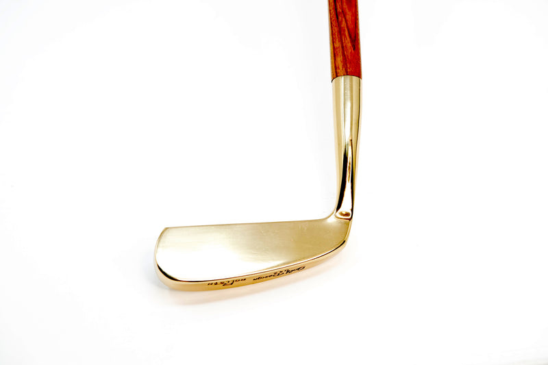 Golden Golf Putter For Sale by Time Traders Wooden Shaft Audemars Piguet Royal Oak Rose Gold Design
