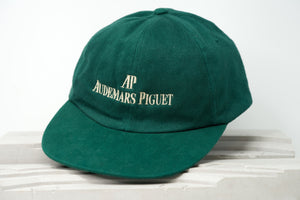 Luxury Designer Sports Hat by Audemars Piguet Royal Oak Green and Gold Lettering for Sale Online by Time Traders Inc