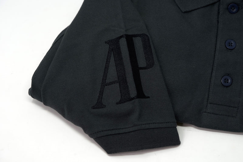 Real Audemars Piguet Royal Oak Golf Polo in Black with Gray Cotton Premium Luxury Fabric