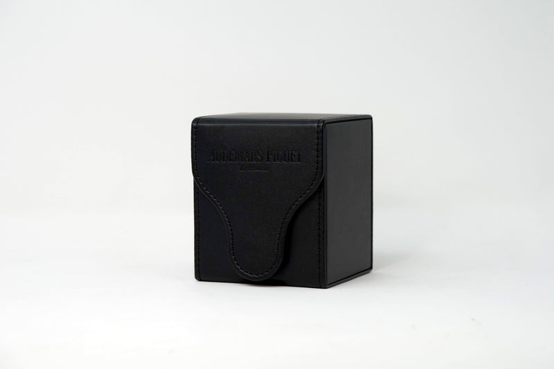 Black Leather Luxury Swiss Watch Travel Case for Audemars Piguet Royal Oak Watches On Sale by TimeTradersOnline.com