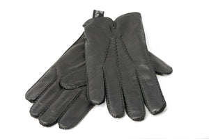 Ermenegildo Zegna Black Leather Gloves Cashmere Lined for Audemars Piguet