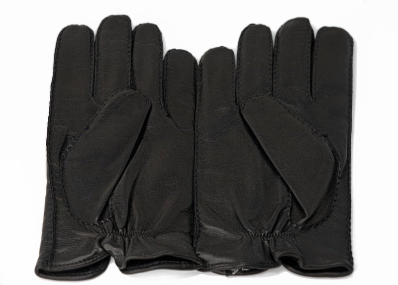 Designer Luxury Black Leather Gloves by Ermenegildo Zegna for Audemars Piguet