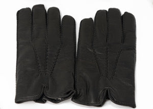 Audemars Piguet Black Leather Gloves by Ermenegildo Zegna For Sale At Tiem Traders Online
