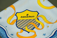 Audemars Piguet 100% Pure Silk Hermes Quality Scarf in Blue Orange and Yellow