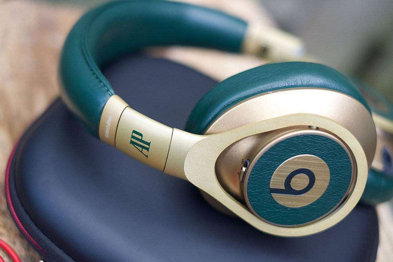Beats by Dre Rose Gold and Green Headphones Audemars Piguet