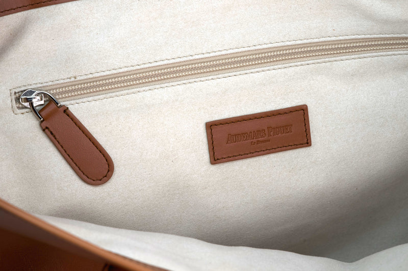 Rare and Beautiful Audemars Piguet Hermes Quality Saddle Colored Handbag by Audemars Piguet