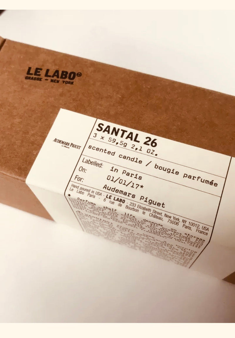 Le Labo x Santal 26 Candle Set