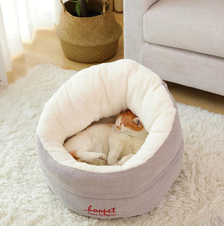 Comfortable cosy cat or small dog bed-Sleeping-Alfy & Co-Light Gray-S-Alfy & Co