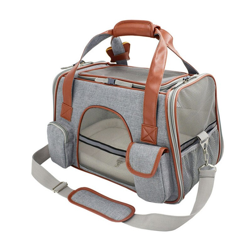 Travel Pet Carrier-Outdoor-Alfy & Co-Light Gray-Alfy & Co