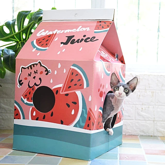 DIY Cat House Juice Box-Spelen-Alfy & Co-Alfy & Co