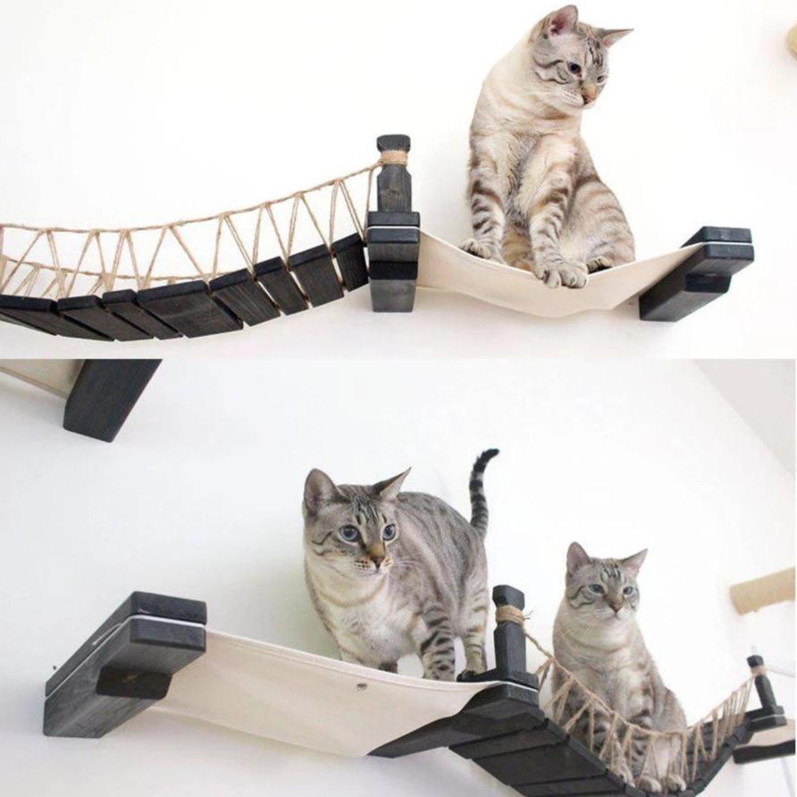Cat rope bridge with decks or without-Playing-Alfy & Co-Alfy & Co