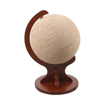 Rotating Globe Cat Scratch Post-Playing-Alfy & Co-Globe brown stand-Alfy & Co