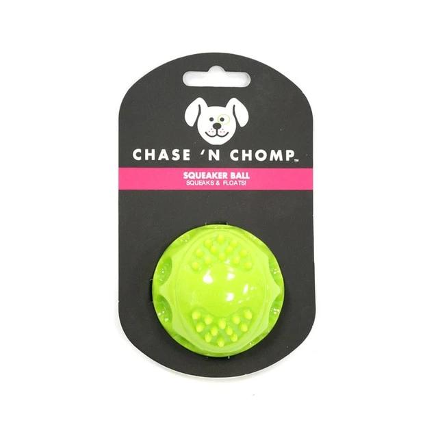 Dog bouncing balls-Playing-Alfy & Co-Green-S-Alfy & Co