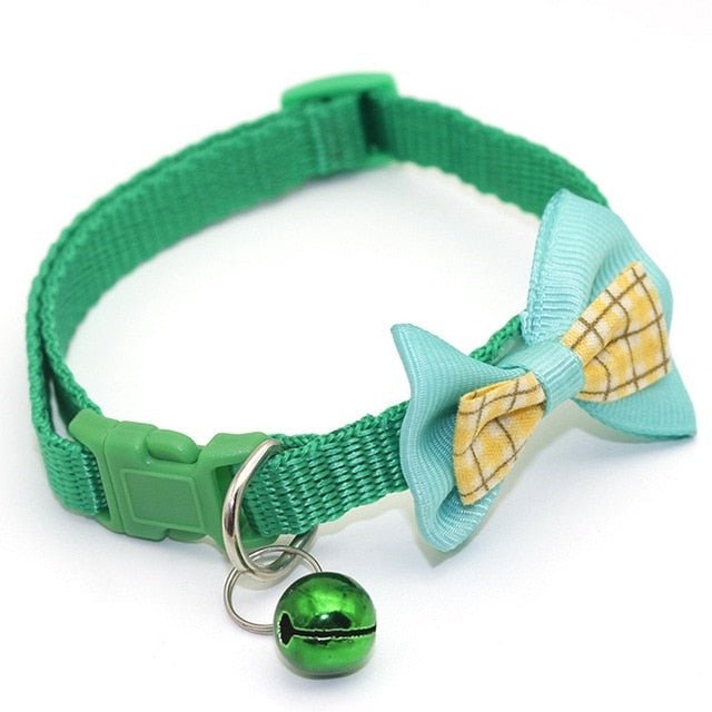 Cat collar with bow tie-Beauty-Alfy & Co-Green-Alfy & Co