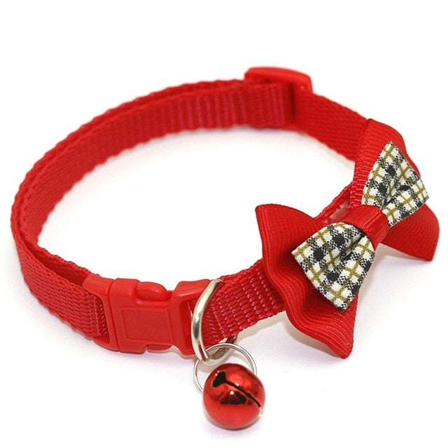 Kattenhalsband met vlinderdas-Beauty-Alfy & Co-Red-Alfy & Co
