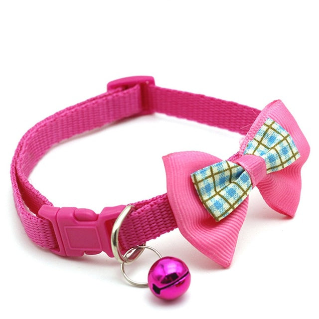 Cat collar with bow tie-Beauty-Alfy & Co-Dark pink-Alfy & Co