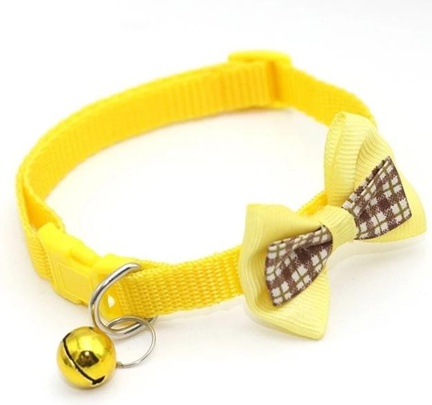 Cat collar with bow tie-Beauty-Alfy & Co-Yellow-Alfy & Co