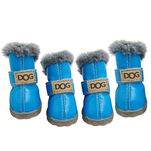 Warm winter dog boots-Outdoor-Alfy & Co-Navy Blue-L-Alfy & Co