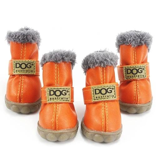 Warm winter dog boots-Outdoor-Alfy & Co-Orange-L-Alfy & Co
