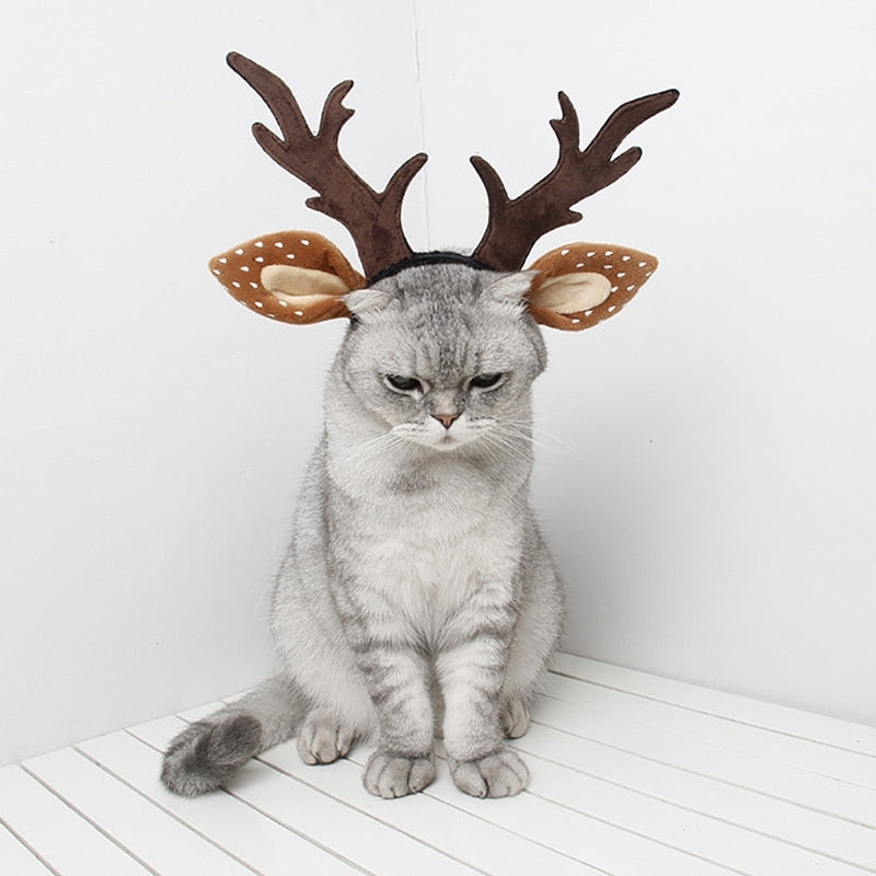 Christmas deer horn headband-Beauty-Alfy & Co-Alfy & Co