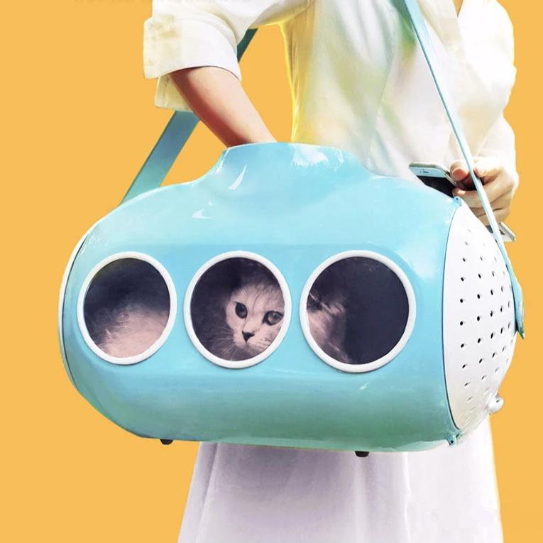 Submarine shaped cat carrier-Outdoor-Alfy & Co-Cherry blossom-Alfy & Co