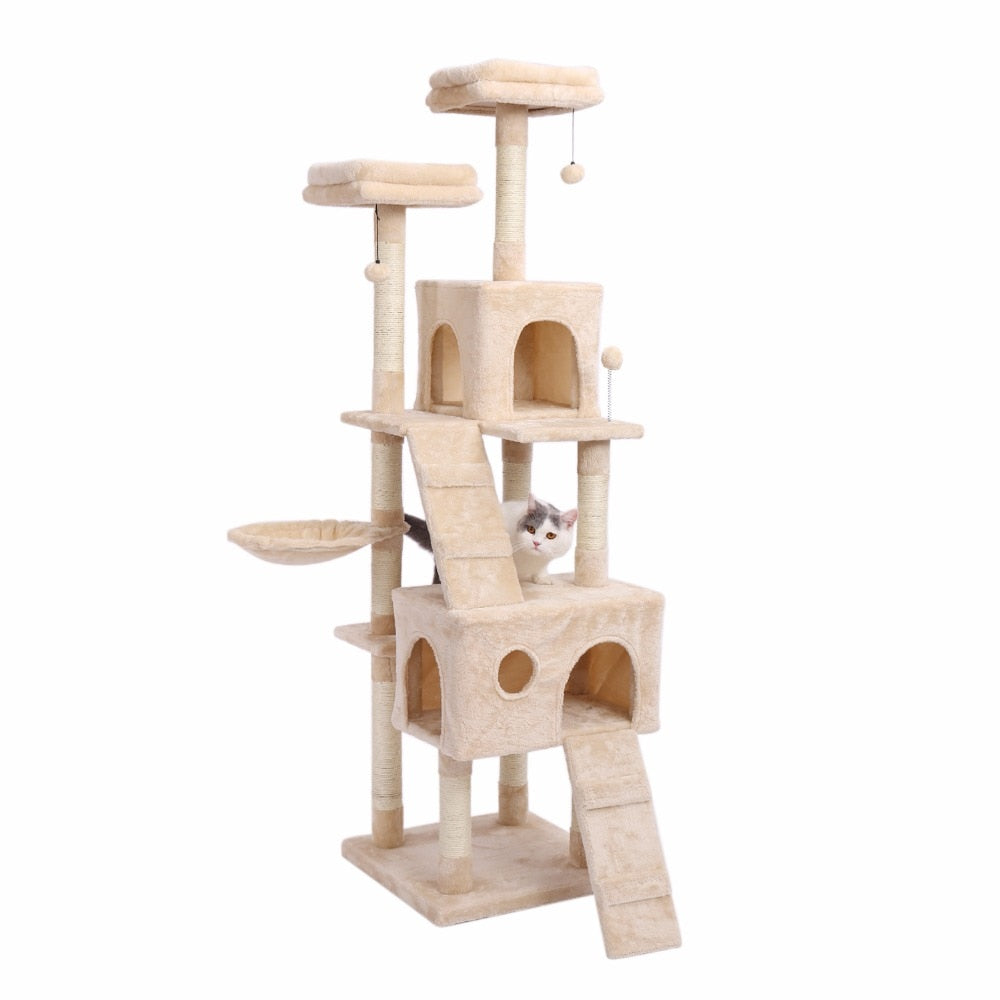 Large Cat Tree-Playing-Alfy & Co-Beige-Alfy & Co