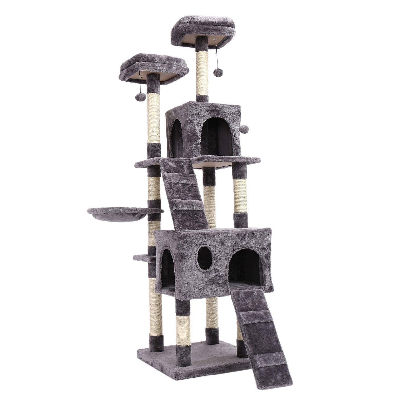 Large Cat Tree-Playing-Alfy & Co-Gray-Alfy & Co