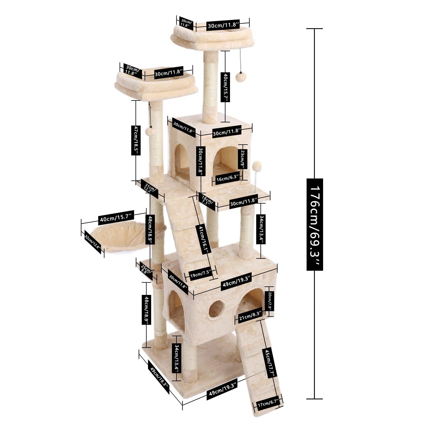 Large Cat Tree-Playing-Alfy & Co-Alfy & Co