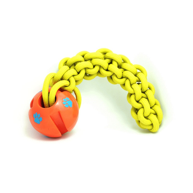 Tough floatable chewing ball on a rope-Playing-Alfy & Co-Alfy & Co