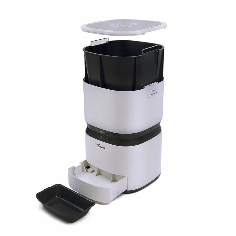 Automatic programmable pet feeder with phone app-Dining-Alfy & Co-White-Alfy & Co