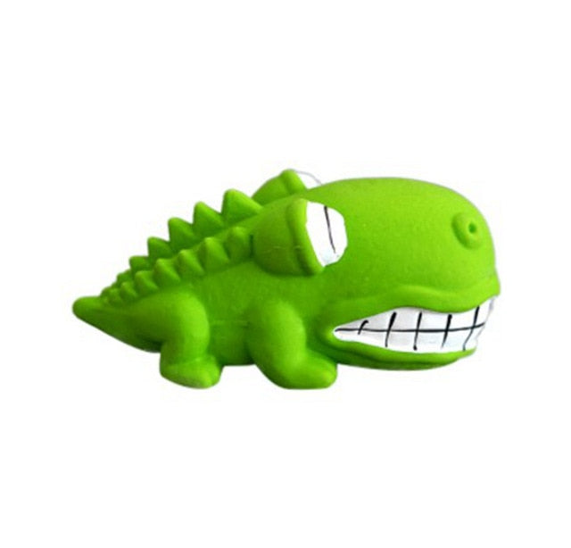 Fat Crocodile Dog Toy-Playing-Alfy & Co-Green-Alfy & Co