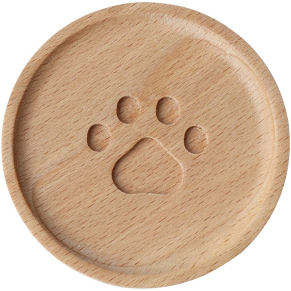 Cat paw wooden coaster-Humans-Alfy & Co-Alfy & Co