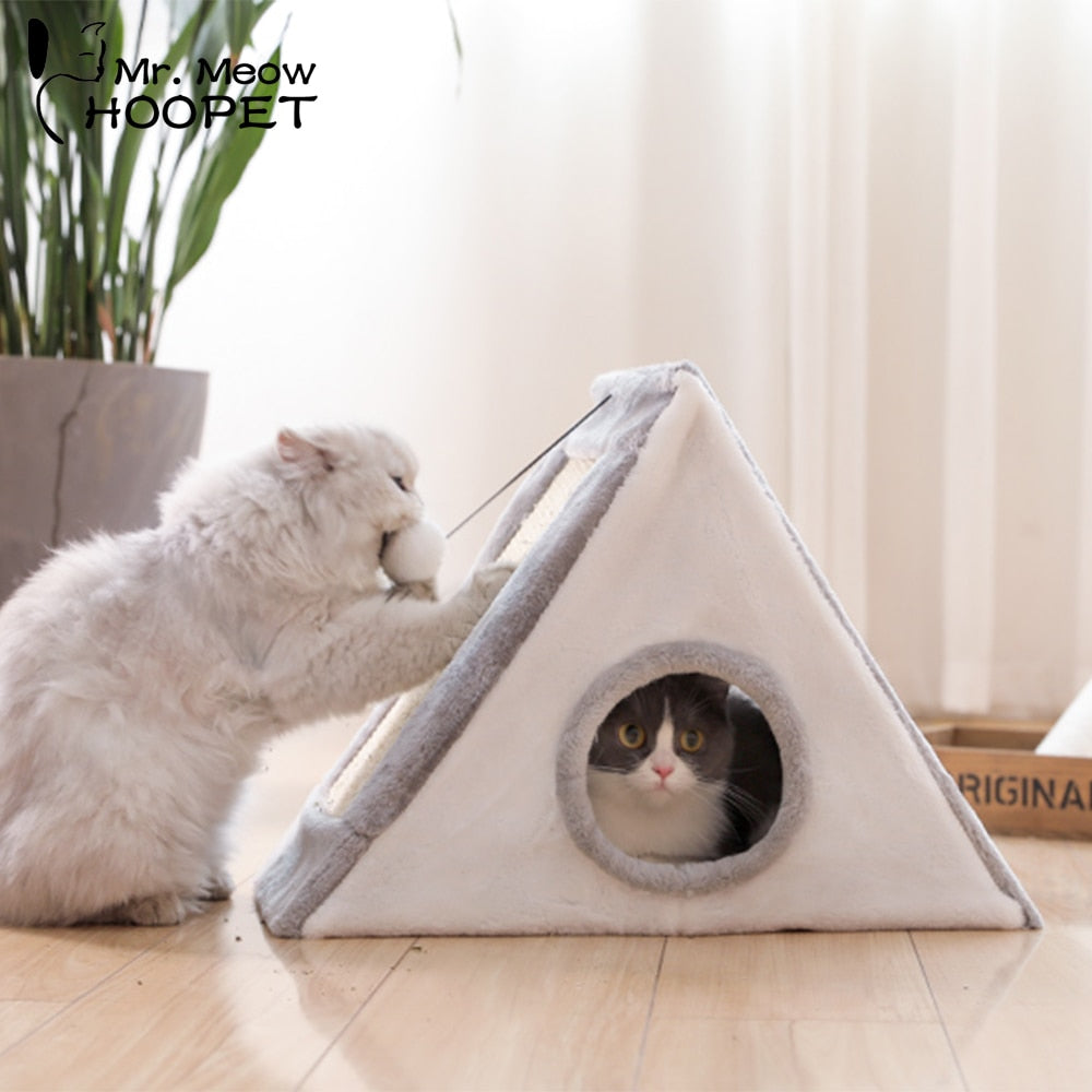 Trendy multifunctional cat bed with scratch board-Sleeping-Alfy & Co-Alfy & Co
