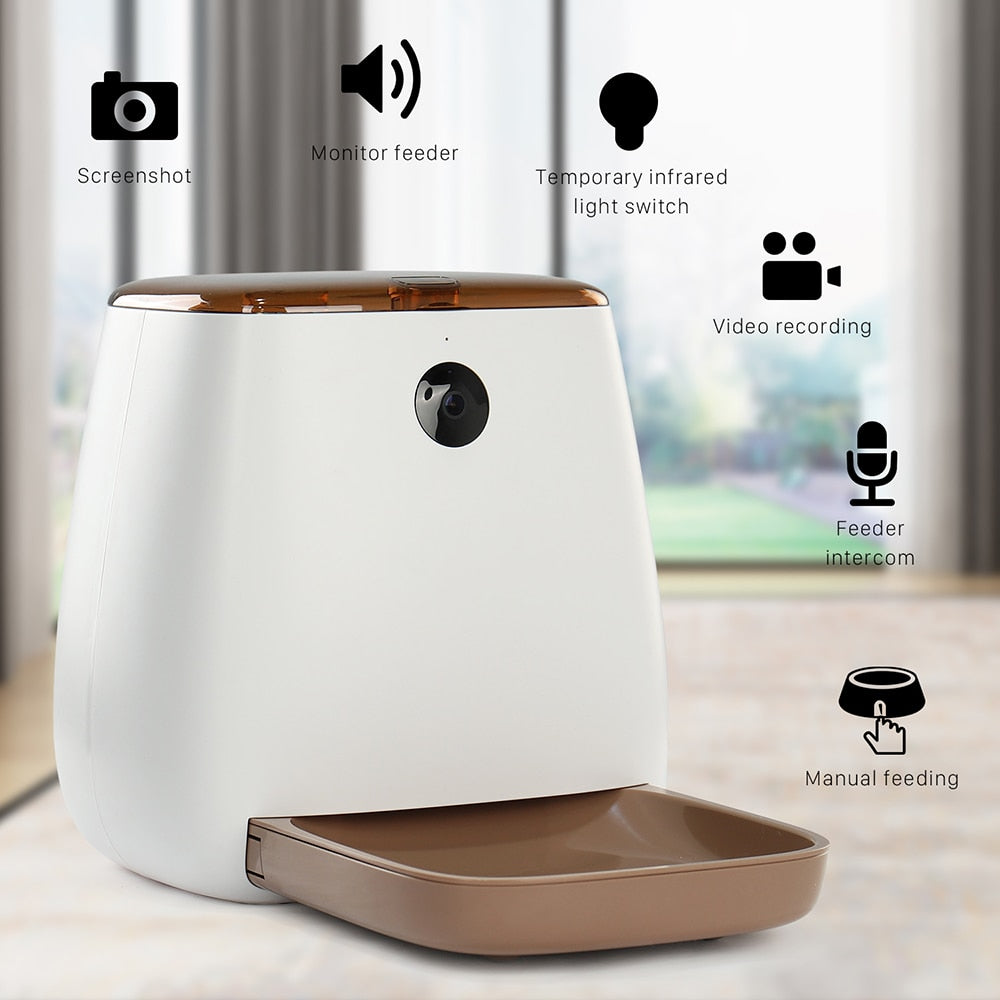 Automatic pet feeder with phone app and camera-Dining-Alfy & Co-Alfy & Co